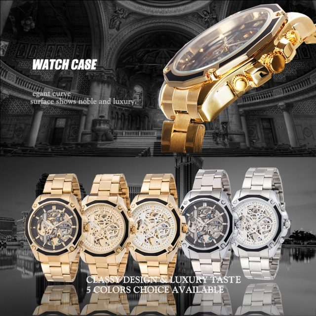 Business Men's Mechanical Automatic Skeleton Watches