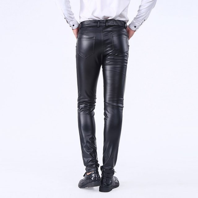 Men's Solid Leather Pants