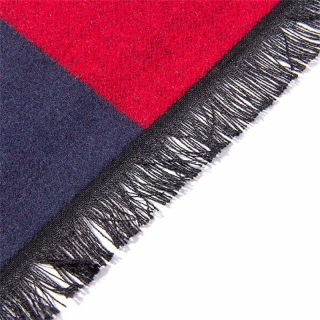 Men's Red and Blue Scarf