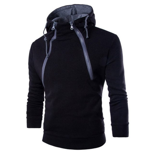 Men's Double Zipper Sport Hoodie