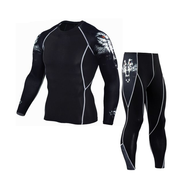 Compression Runing Pants and Long Sleeve Shirts