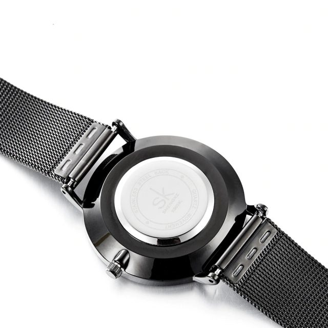 Ultra Thin Wristwatches for Women with Metal Mesh Strap