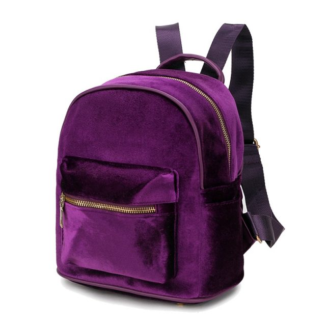 Women's Stylish Velvet Backpack