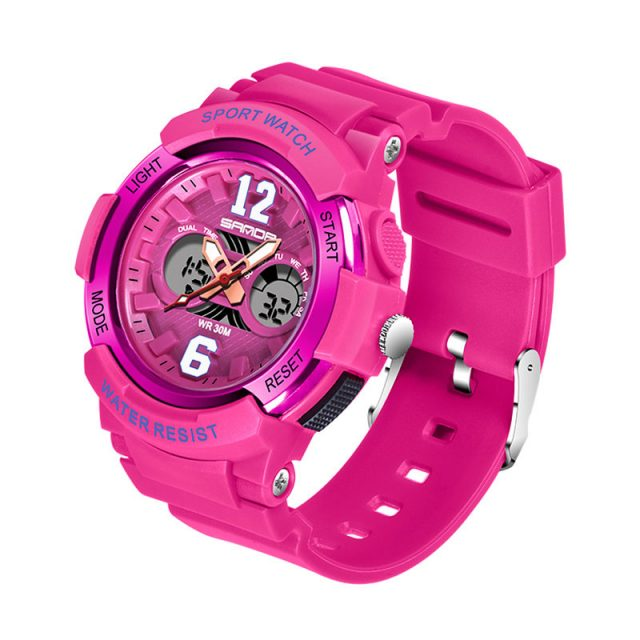 Electronic Sport Watch for Woman with Dual Display