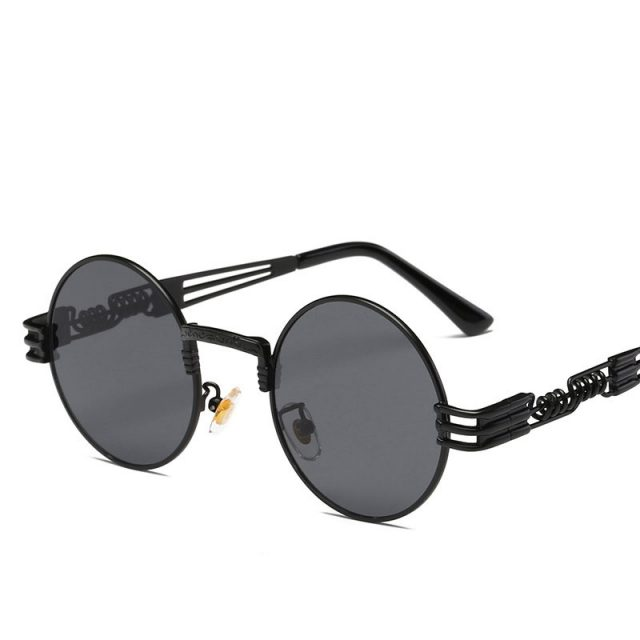 Women's Steampunk Round Sunglasses