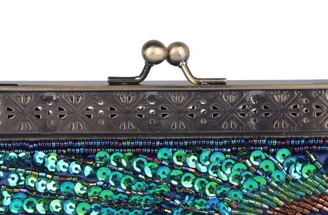 Women's Peacock Sequined Clutch